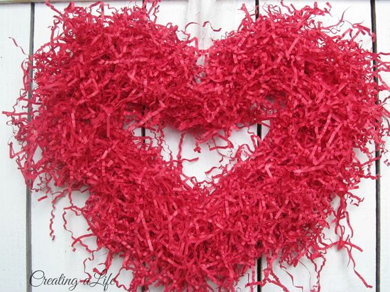 Creating A Life: Red Paper Heart Wreath