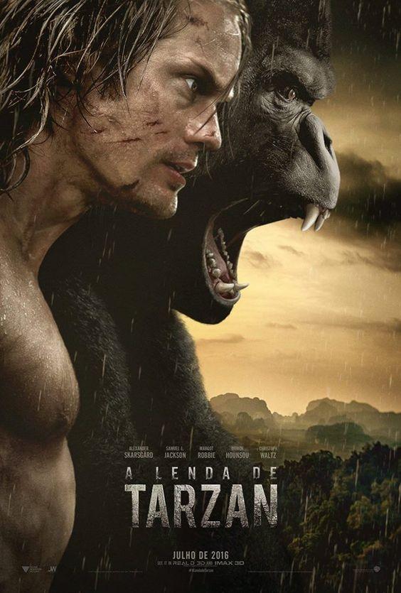 'A Lenda de Tarzan' (The Legend of Tarzan), acompanha Tarzan (Alexander Skarsgård) anos depois de..: