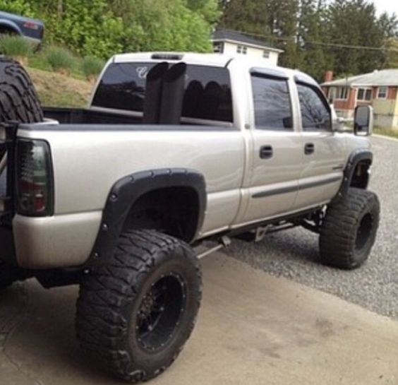 side by side #stacks #duramax #chevy | Lifted Trucks ...