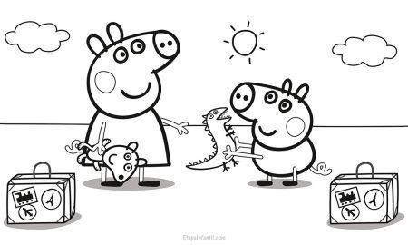Dibujos Para Colorear De Peppa Pig Teckningar Barn Och Mala
