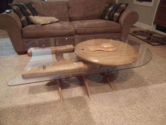 USS Enterprise table. I would get one of these if I had Other People's Money to spend