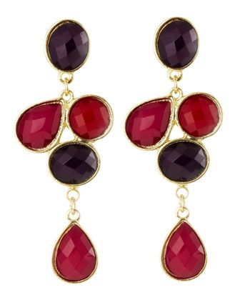 Combo Cluster Earrings, Pink by Greenbeads at Last Call by Neiman Marcus.  Great for Fall!