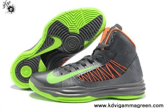 Discount Grey Green Orange Nike Lunar Hyperdunk 2013 Womens Basketball Shoes Shop