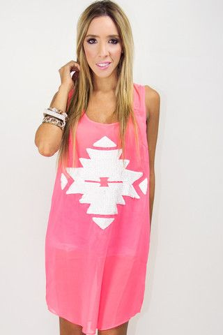 The clothes and accessories on this website are amazing! ELECTRIC CORAL TRIBAL TUNIC