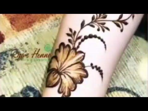 جديد نقش الحنا رسم ورود Youtube Tattoos Henna Flower Tattoo