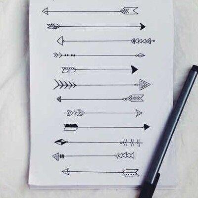 Flechas desenhos tumblr tatuagens pinterest arte e for Setas para decorar