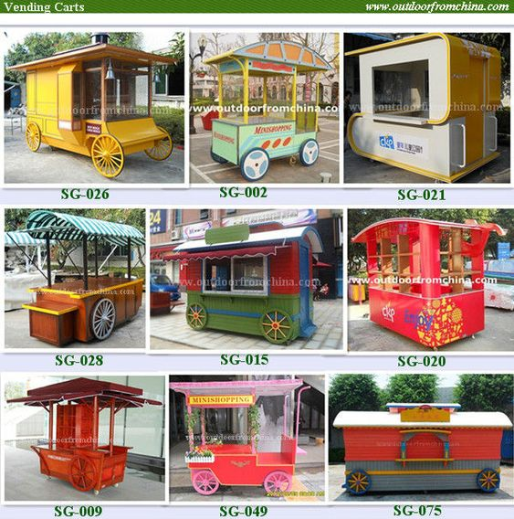 Vending cart for small products/ Mini shopping/ Hotdog vending carts/coffee vending cart