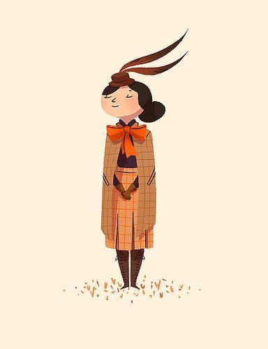 Dita by Anneka Tran (via Illustrated Ladies) #AnnekaTran #orange
