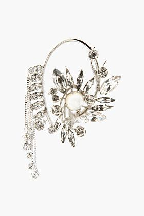GIVENCHY Crystal & Mother-Of-Pearl Ear Cuff