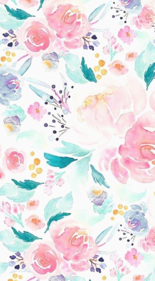 9 Wallpaper Art Backgrounds Floral Prints In 2020 Watercolor
