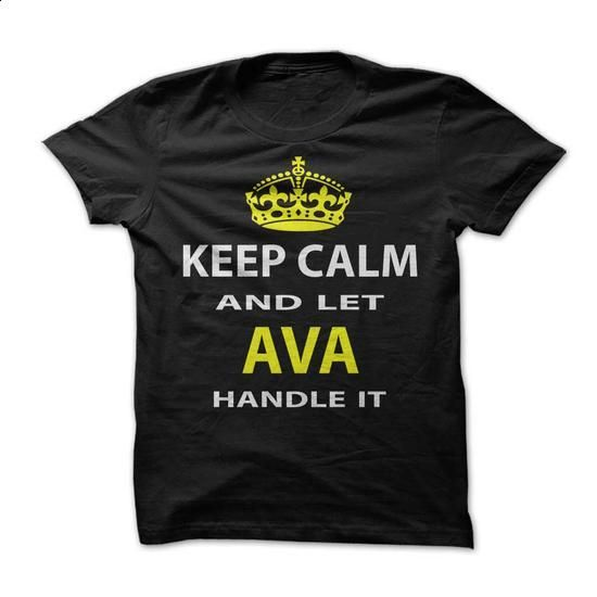Keep Calm & Let Ava Handle It - #country hoodie #long sweatshirt. I WANT THIS => https://www.sunfrog.com/Funny/Keep-Calm-Let-The-Ava-Handle-It.html?68278