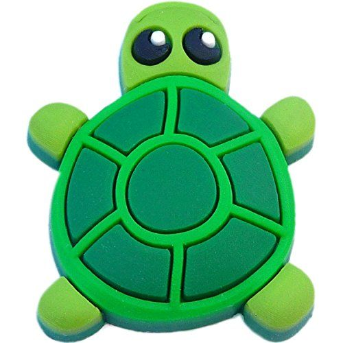 of Turtle Rubber Charms for Wristbands and Shoes Green Two 2