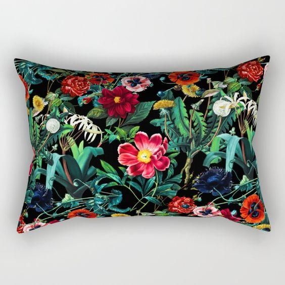 Night Forest VII Rectangular Pillow