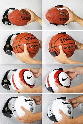 Soccer, Basketball, etc  Ball Claw. Pinning just to remind myself to buy one or a few in the future!