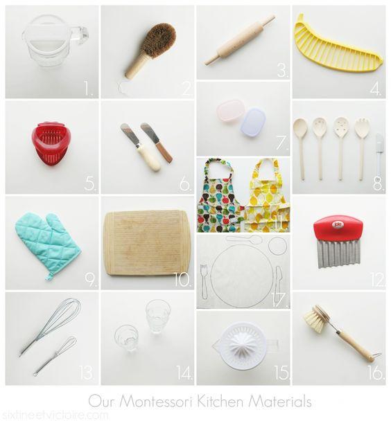 Our Montessori Toddler Kitchen Materials / Montessori Toddler / Little Chef  Materials Via Sixtineetvictoire.com | All Things Montessori | Pinterest ...