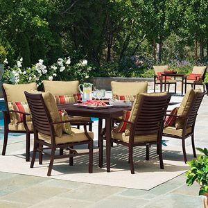 Shutter 7 piece patio dining set seats 6 dining sets walmart and sun - Sun chairs walmart ...