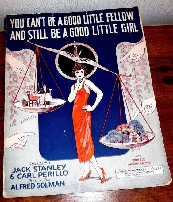 1925 YOU CAN'T BE A GOOD LITTLE FELLOW & STILL BE A GOOD LITTLE GIRL SHEET MUSIC
