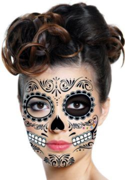 cute make up with a skeleton costume!
