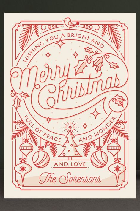 These Retro Christmas Cards Will Surprise And Delight Your Relatives Christmas Card Design Christmas Illustration Christmas Poster