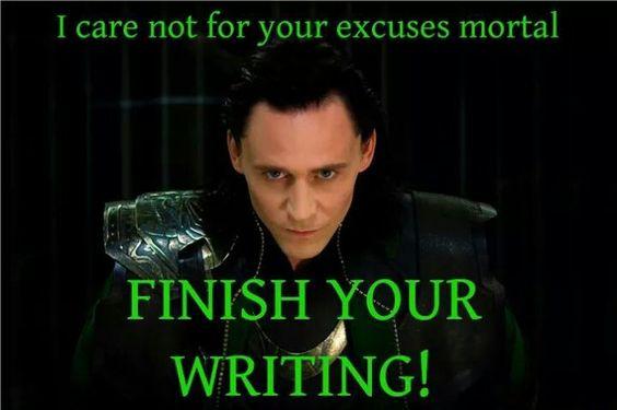 Finish writing!