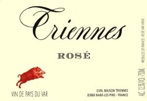 It's OK to drink pink.....2012 Triennes Rose