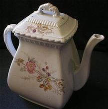Sampson Bridgwood & Son Polychrome Transfer-Ware Decorated Coffee Pot - Pattern #656