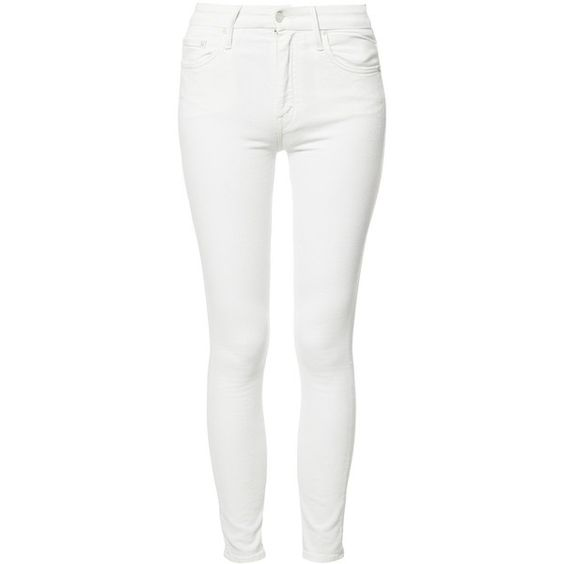 Mother - Insider cropped jeans - women - Cotton/Spandex/Elastane ...