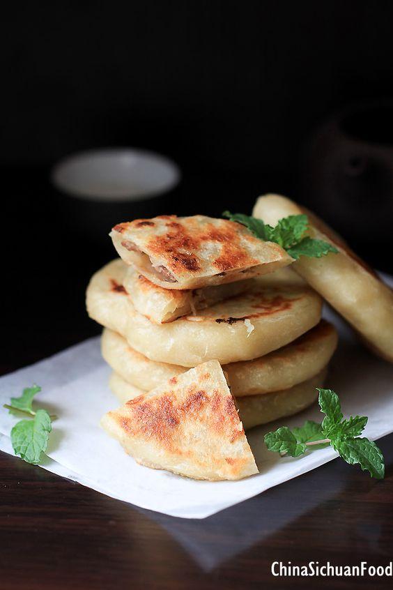 Chinese Meat Pie  (Xian Bing)  ChinaSichuanFood  sorta like flat baozi then pan fried. no yeast needed.