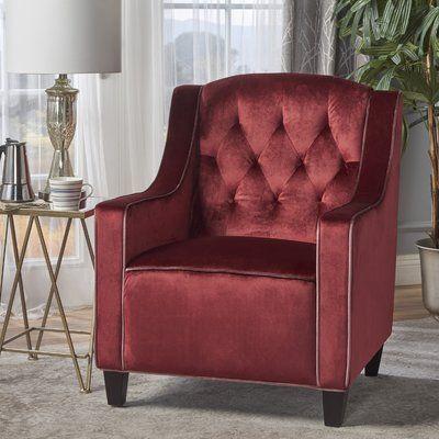 Mercer41 Pell Club Chair Upholstery : Garnet | Club chairs