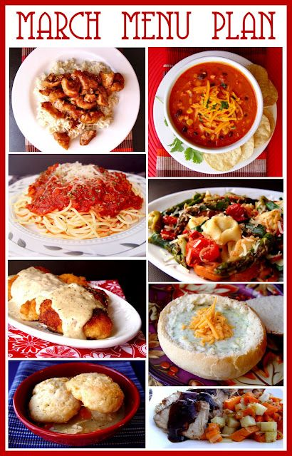 March Menu Plan from Jamie Cooks It Up!: Good Ideas, Meal Planning, 20Menu 20Plan, Great Recipes, Food Blog, Neat Ideas, March Menu