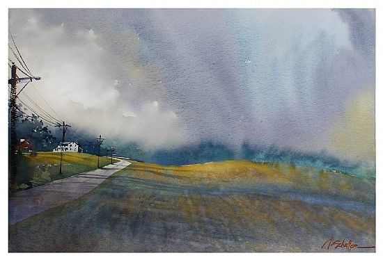 Thomas W. Schaller ~ summer storm - portage county ohio ~ 17 inches x 24 inches