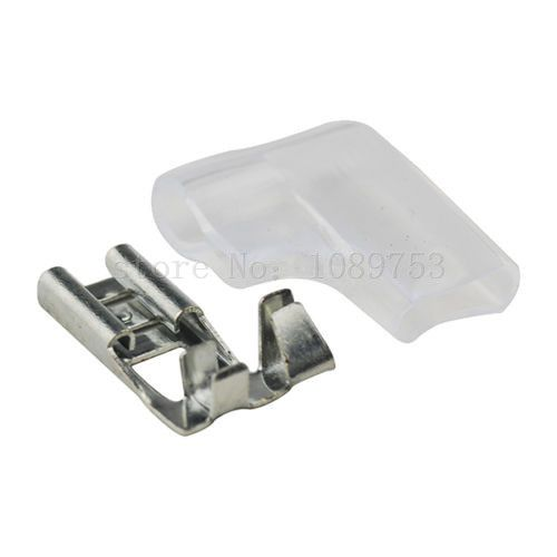 20x 6 3mm Female Ra Flag Spade Tin Plated Terminal Connector Insulate Case Plating Connector Electrical Equipment