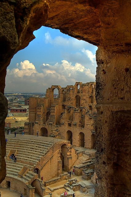 The African Colosseum in El Djem, Tunisia