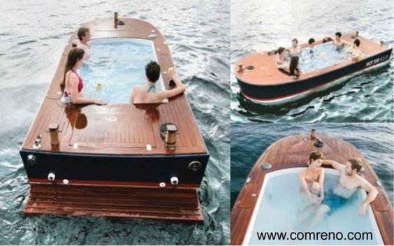 """Com o calor...Um """"barco-banheira"""". Via...  www.comreno.com"""