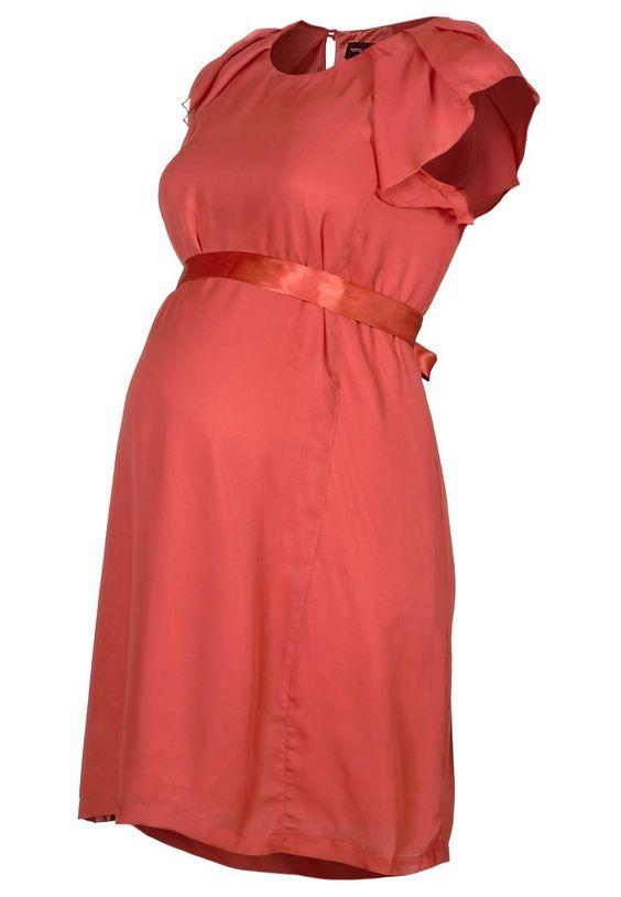 Maternity Dress Coral  http://www.hippeshops.nl/
