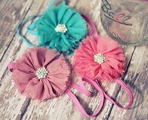 Frayed Flower Headband. Gorgeous headband available in several color options.