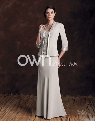 New Arrival Long Unusual Mother Of Bride Dress with Flowing Skirt ...