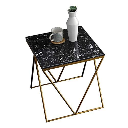 Creative Wrought Iron Marble Coffee Table Modern Minimalist Side