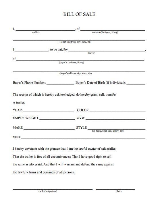 Printable Sample bill of sale templates Form Laywers Template - bill of sale template doc