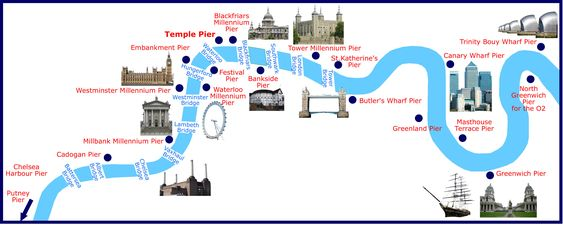 Map Of Thames Piers For Boat Hire In London Capital Pleasure Boats Boat Hire Thames River Thames