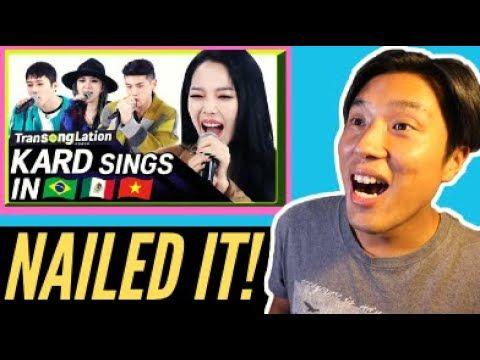 K Pop Stars Sing In Three Languages Kard Transonglation Reaction K Pop Star Online Film School Singing