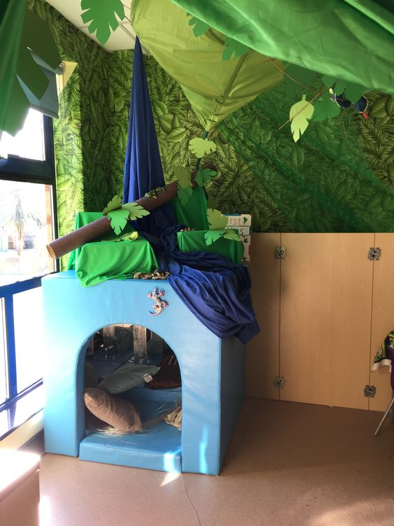 Our reading den with sensory cube set us as the Brazilian rainforest