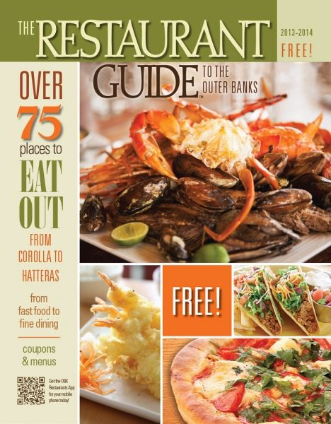 Restaurant Guide to the Outer Banks - Helping you find the best Outer Banks restaurants for 20 years! Printed magazine, with desktop, mobile site and free app! Menus, directions and coupons, too! #obxrestaurants #outerbanks