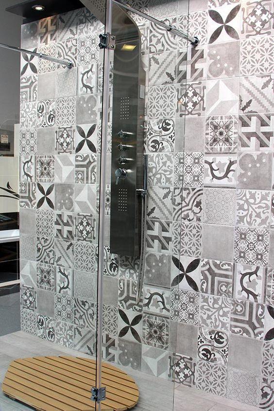 carrelage effet carreaux de ciment home d co pinterest design tile and spanish. Black Bedroom Furniture Sets. Home Design Ideas