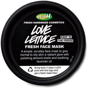Love Lettuce fresh face mask. In Lush stores only. Gotta keep refrigerated.