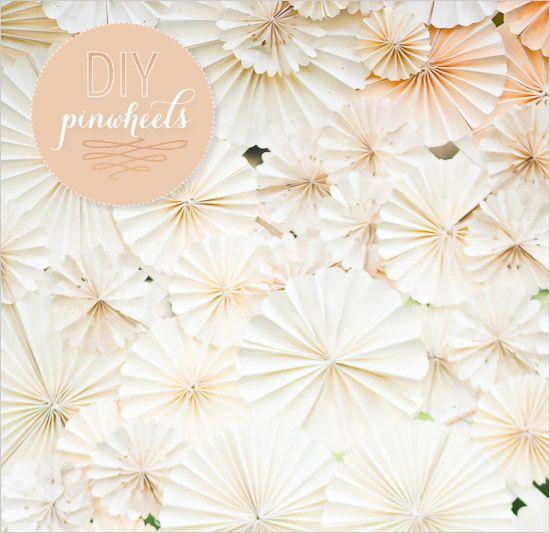DIY pinwheels.