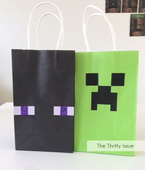 Minecraft Party Loot Bags Creeper Enderman