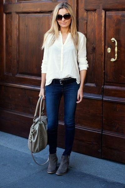 another easy chic white shirt moment