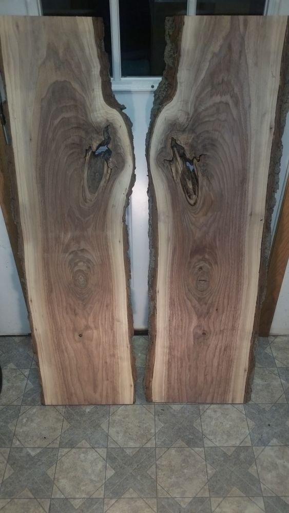 Character Black Walnut Lumber Wood Boards 45 1 2 X 15 16 Inch Live Book Match