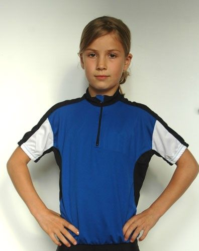 Kinder Radtrikot blau